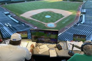 Chicago Cubs broadcasting-booth