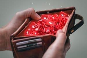 Wallet containing social media likes instead of money